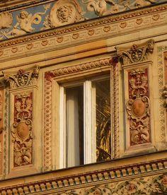Hungary, Budapest, Art Hall, 1896. Műcsarnok. Pyrogranite ornaments.
