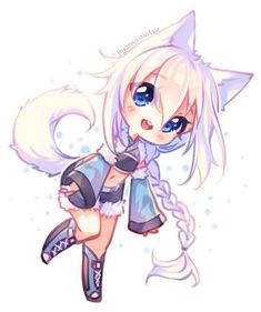 cat girl [+Video] Commission - Floffy Happiness by Hyanna-Natsu Anime Neko, Chibi Manga, Dibujos Anime Chibi, Cute Anime Chibi, Anime Girl Cute, Kawaii Chibi, Kawaii Anime Girl, Kawaii Art, Anime Art