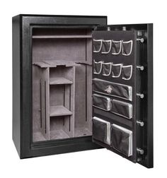 Winchester Silverado Premier 38-7-M Gun Safe; 51 Gun Capacity (Black) (Mechanical Lock) by Winchester. $2635.00. Winchester Safes Silverado Premier 38 provides high-end protection with extraordinary fire and burglary safeguards. Fire protection features: Five layers of fireboard in the door, Four layers of fireboard in the body, Double layer of Palusol heat expandable door seal, Upgraded composite door construction, External door hinge allows full fireboard protec...