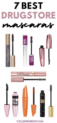 Spending a fortune on mascara is so passe. These 7 best drugstore mascara picks lengthen and volumize lashes like high end brands and are a third of the price. #best #drugstore #mascara