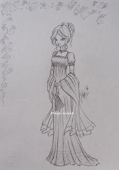 Winx Flora - Regency Style Dress by Francesca-MayaWorld.deviantart.com on @deviantART