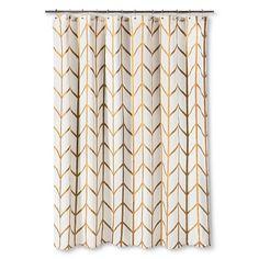 Threshold Shower Curtain Gold Ikat $19.99