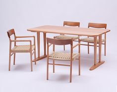 Nomad dining table & chairs, NDstyle. Murasawa Kazuaki. 村澤 一晃