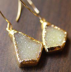 lemon opal earrings