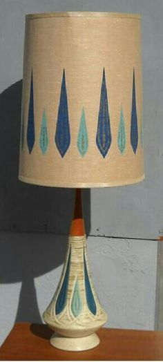 Amazing mid century lamp....I need to find a picture, but, I think my Aunt had this exact lamp. n