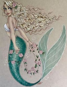Commission from before the holidays. This one was so fun to do! I'm planning on going live in an hour or so to finish coloring a drawing I started live forever ago, so look out for that. Mermaid Artwork, Mermaid Room, Mermaid Drawings, Mermaid Tale, Mermaid Tattoos, Mermaid Paintings, Drawings Of Mermaids, Mermaid Tail Drawing, Pin Up Mermaid
