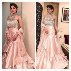 """32.5k Likes, 228 Comments - Shamita Shetty (@shamitashetty_official) on Instagram: """"About last night wearing a Beautiful @manishmalhotra05 for our Diwali party ❤️jewellery by my fav…"""""""