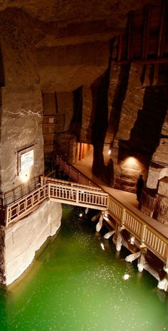 Krakow Salt Mine, Poland - pretty awesome. Would like to see this!
