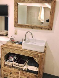 wooden pallet bathroom idea