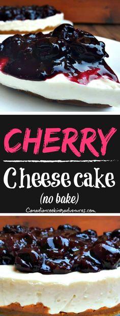 Homemade Cherry Cheesecake (No Bake)