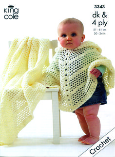 Download Knitting Patterns King Cole : Crochet Baby Poncho on Pinterest Baby Poncho, Granny Square Poncho and Croc...
