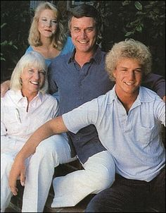 Larry Hagman and family