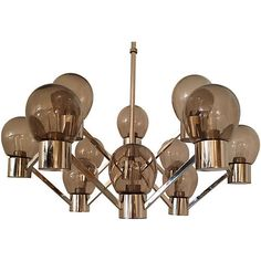 Pre-Owned 1970s Mid-Century Modern Chandelier (2,875 NZD) ❤ liked on Polyvore featuring home, lighting and ceiling lights