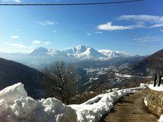Winter Dikastro village, Greece
