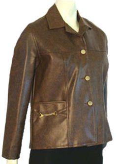 """1960s Vintage Mod Vinyl Vegan Coat"" - back in the day, we called this a vinyl coat.  (ewww)"