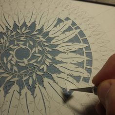 Very labor intensive, and intricate. Very talented designer. Origami, Mandala Art, Cut Out Art, Paper Art, Paper Crafts, Papier Diy, Paper Design, Diy Art, Paper Cutting