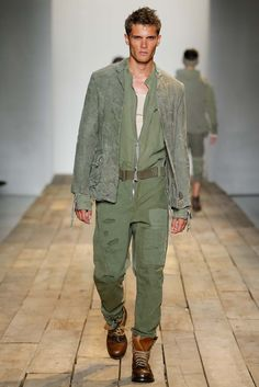 coverall style, fatigue green - Greg Lauren Spring 2016 Menswear, New York Fashion Week: Mens // menswear style + fashion