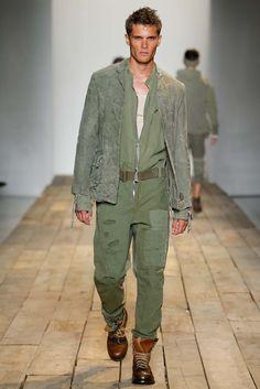 coverall style, fatigue green - Greg Lauren Spring 2016 Menswear, New York Fashion Week: Mens // menswear style + fashion