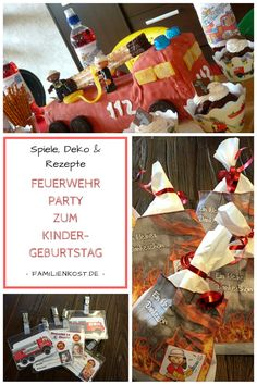 Feuerwehrparty zum Kindergeburtstag: Ideas for games, recipes and great decoration for kids . - all-invitations. Christmas Party Invitations, Birthday Invitations, Birthday Parties, Happy Birthday, Birthday Ideas, Diy Gifts For Kids, Childrens Party, Christmas Fun, Party Themes
