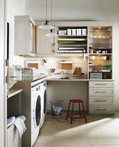 Laundry and Craft Room Combination by CA Closets