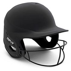 RIP-IT Fit Matte with Vision Pro Fastpitch Softball Helmet - Adult XL Black