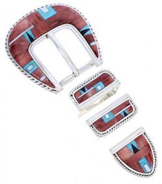 Southwest Multicolor Inlay Ranger Belt Buckle YS71876
