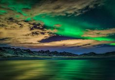 The Northern Lights over Kleifarvatn lake, on the Reykjanes Peninsula. Image by Ragnar Th. Sigurdsson / age fotostock / Getty