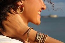 Raw organic Earrings distressed Hoop Earrings Byzantine   Etsy Bohemian Rings, Thumb Rings, Byzantine, Ear Piercings, Silver Rings, Hoop Earrings, Bronze, Organic, Bracelets