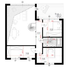 Dom modułowy CONTi4. Dom z modułów, paswyny.CONTiBOX Floor Plans, Diagram, Floor Plan Drawing, House Floor Plans