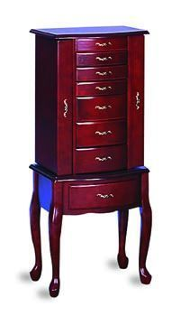 Coaster Furniture Cappuccino Transitional Jewelry Armoire 900024