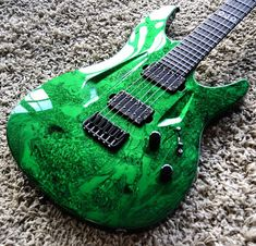 Green Electric, Guitar Art, Man Photo, Art Music, Emerald Green, Guys Photos, Blues, That Look, Electric Guitars