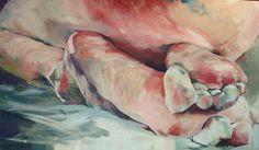 """Birgitta Bachmann; Tempera, 2010, Painting """"underweight"""""""