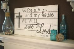 As for me and my house we will serve the Lord by AmandaGdesigns, $85.00