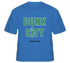 statsgeektees - FGCU Dunk City Basketball Blue College T Shirt