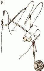 Вязание спицами - Набор петель
