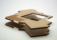 Kirsty Fraser - 'Daring' (2011) 150mm x 150mm x 23mm silver, laser cut mdf