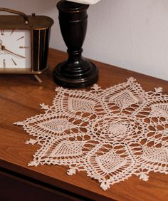 Pineapple Symphony doily free pattern made with Aunt Lydia's crochet thread