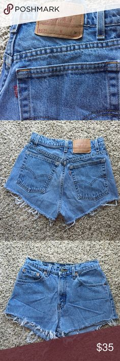 High waisted cutoff vintage Levi's I'd say these are about a size 3/4 but it says 9 jrs Levi's Shorts Jean Shorts