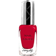 BY TERRY Women's Terrybly Nail Lacquer (1,050 THB) ❤ liked on Polyvore featuring beauty products, nail care, nail polish, makeup, beauty, nails, red, no color, shiny nail polish and by terry