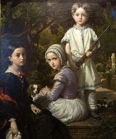 Luis, Rosa y Raymundo by Spanish Painter Madrazo Federico de Madrazo y Kuntz 1815-1894