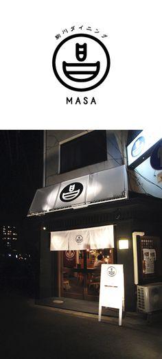 komagawa dining MASA / logo / FROM GRAPHIC