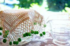 Antique Crochet Milk Jug Cover  Glass Beads