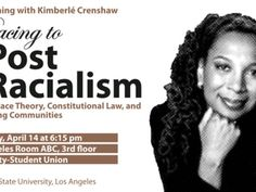 Join us for a distinguished lecture  by Kimberlé Crenshaw, Professor at Law at UCLA and Columbia Law School. Crenshaw is a leading authority in the area of Civil Rights; Black feminist legal theory; and race, racism, and the law.  Her articles have appeared in the Harvard Law Review, National Black Law Journal, Stanford Law Review,  and Southern California Law Review. A specialist on race and gender inequality, she has facilitated workshops for human rights activists around the world.  Q & A…