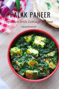 This easy punjabi style palak paneer recipe is as good it gets! It is a simple, homemade recipe that beats the one served at restaurants. A heavenly combo of spinach and Indian cottage cheese! Vegetarian Curry, Vegetarian Recipes, Healthy Recipes, Veg Curry, Vegetarian Cooking, Indian Paneer Recipes, Indian Food Recipes, Indian Foods, Indian Dishes