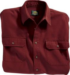 Cabela's: Cabela's Long-Sleeve Stonewash Canvas Shirt - Regular