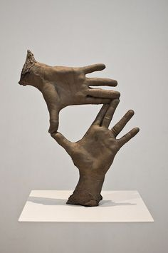 National Gallery of Art - Bruce Nauman  could do this with plaster molds.  Hands expressing a message.... #SculptureArt