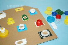 Zabawy sensoryczne Sensory Boards, Kids Playing, Montessori, Triangle, Therapy, Creative, Inspiration, School, Activity Toys