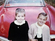 A young George Clooney with his sister Ada - cuteness!