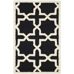 Safavieh Handmade Moroccan Cambridge Black Wool Rug (2' x 3') | Overstock.com Shopping - The Best Deals on Accent Rugs