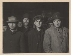 Lewis Hine (American, 1874–1940). Midnight at the Bowery Mission Bread Line, 1906–7. The Metropolitan Museum of Art, New York. Gift of John C. Waddell, 1998 (1998.91) #newyork #nyc